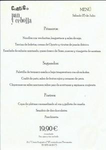 menu del 25 de julio