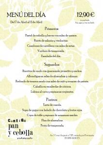 menú del 7 al 11 de abril