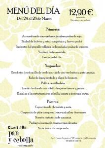 menu 24 al 28 de marzo