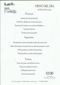 menu del 20 al 24 de julio